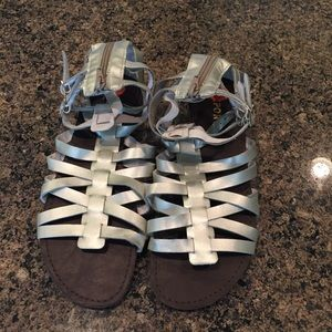 Report Silver Gladiator Sandals